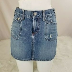 Old Navy Denim Jean Skirt Mini Short Flap Pockets